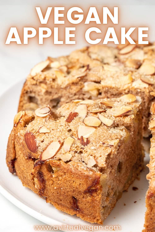 Vegan Apple Cake Recipe In 2020 Vegan Apple Cake Vegan Baking Recipes Vegan Desserts