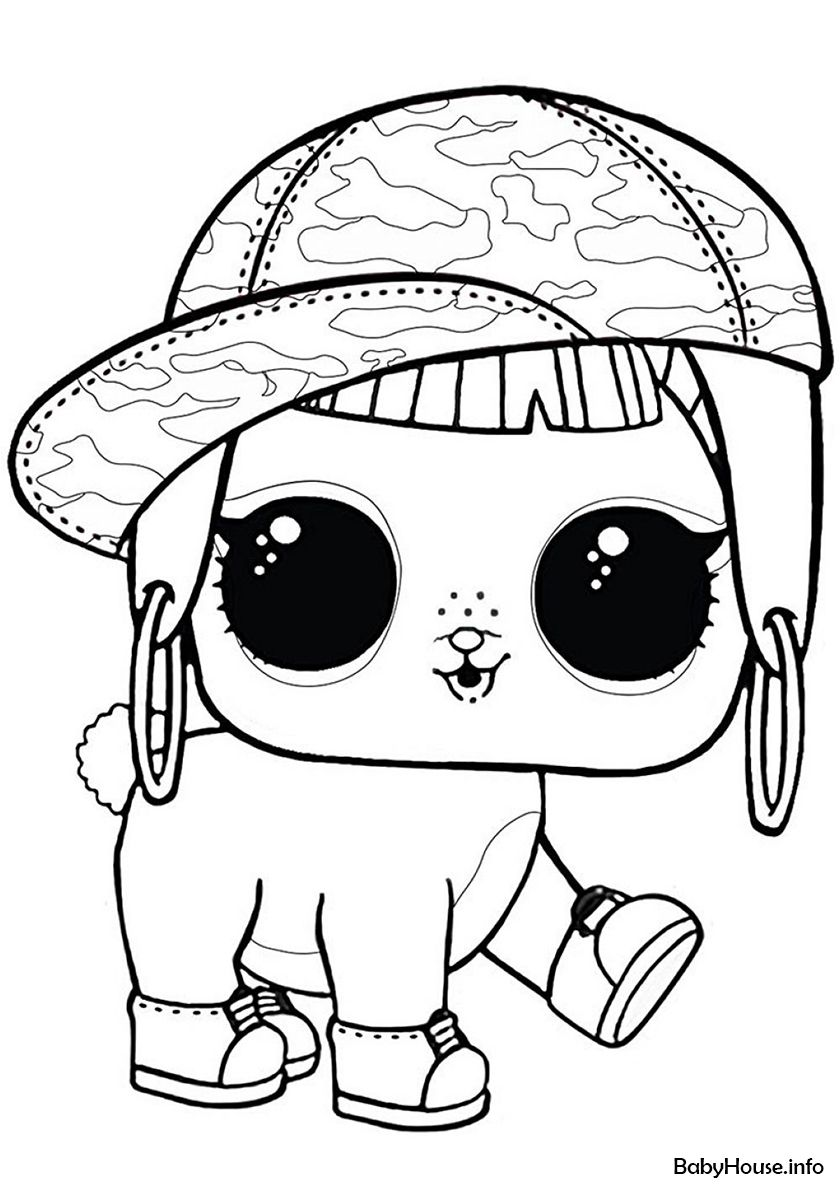 L O L Surprise Bunny Hun High Quality Free Coloring From The Category L O L Pets More Printable Pictur Unicorn Coloring Pages Lol Dolls Cute Coloring Pages