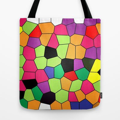 Abstract Stained Glass Tote Bag by Colorful Art - $22.00