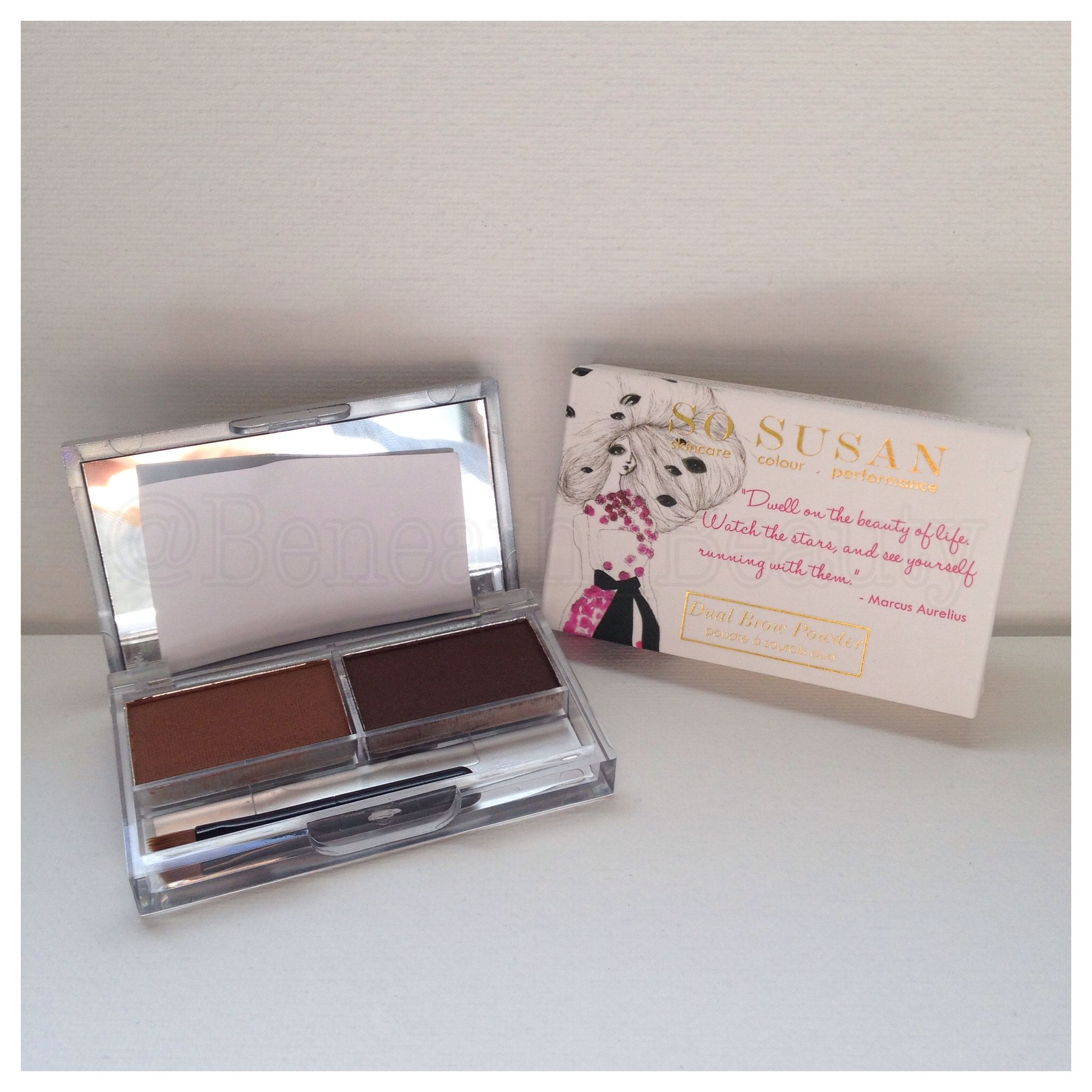 So Susan Cosmetics Brow Duo. Such gorgeous packaging!