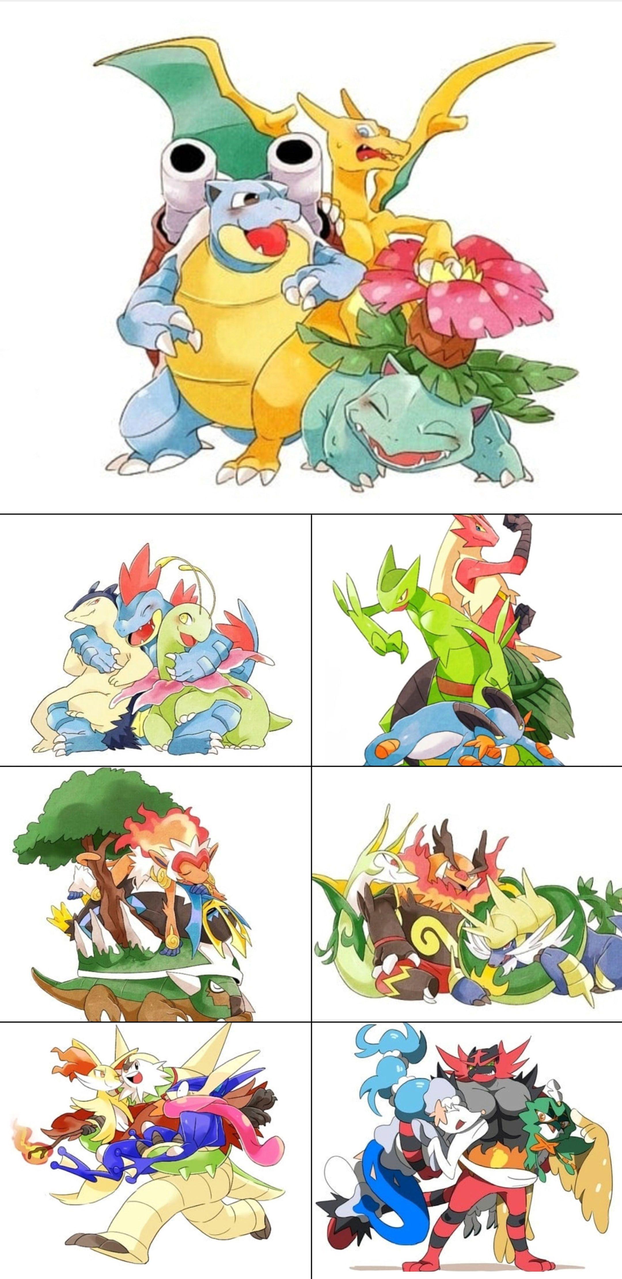 All the starters being a cute. Maybe fAvorite will always be gen 2!! | Pokemon. Pokemon eevee. Pokemon starters