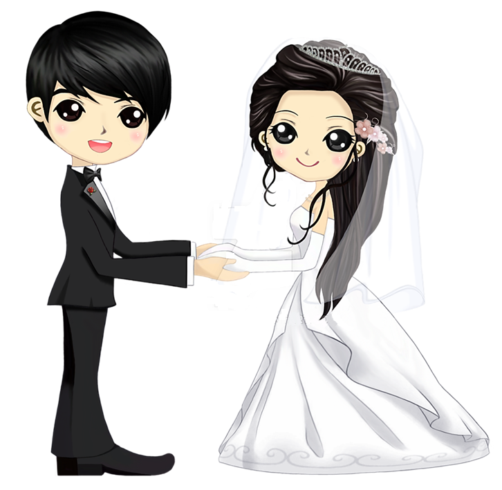 Amo Corea Pareja De Novios Dibujos Matrimonio Dibujos Caricaturas De Novios