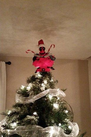 This Homemade Deadpool Masterpiece 35 Wonderfully Geeky Christmas Tree Toppers