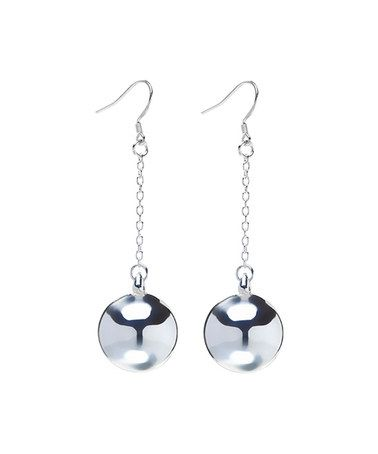 This Sterling Silver Disk Drop Earrings is perfect! #zulilyfinds