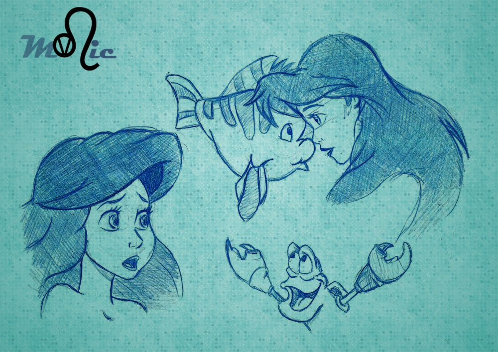 Boceto Ariel 3 by Thyssa.deviantart.com on @deviantART