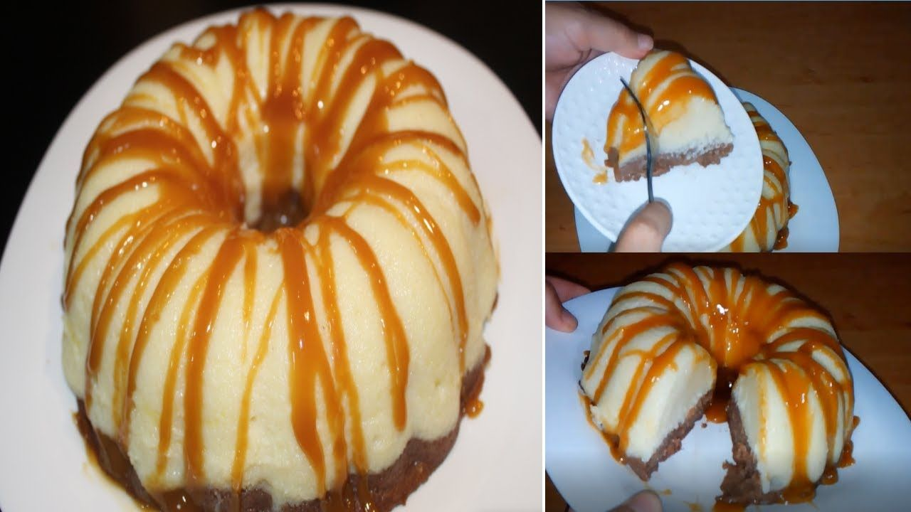Postre Delicioso كيكة باردة للضيوف تحلية باردة سهلة ولذيذة ب3 مكونات Desserts Food Doughnut