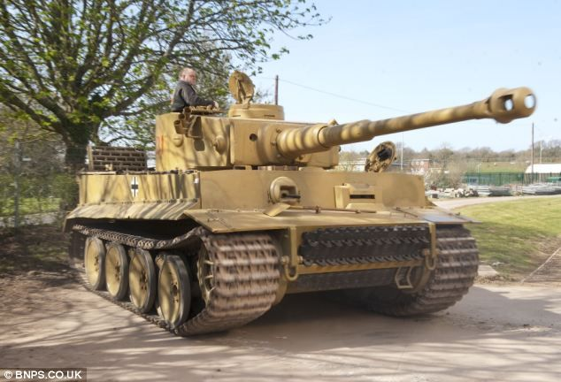 Tiger 131 was captured by British forces in the Tunisian desert in April, 1943