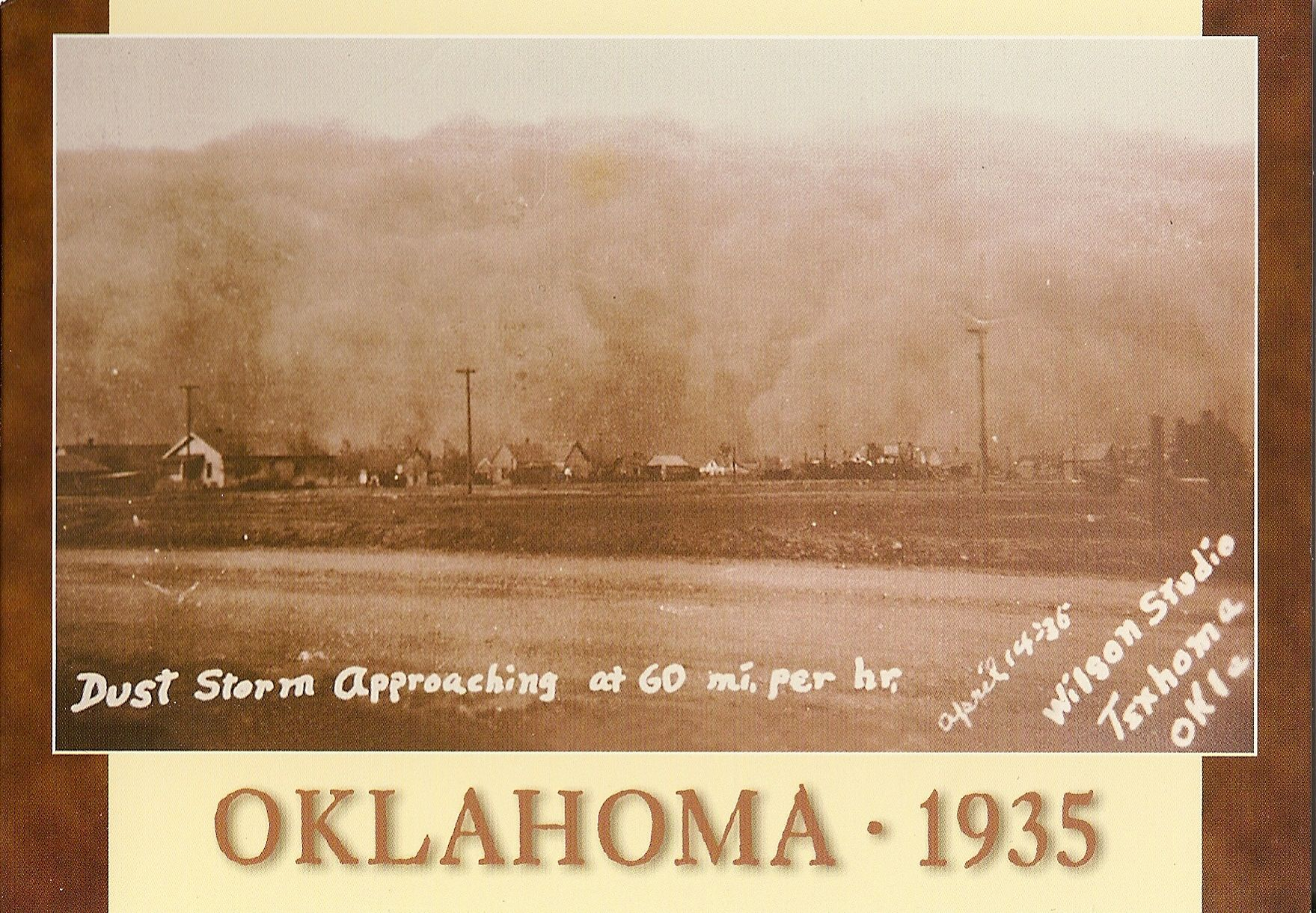 Oklahoma Dust Storm during the Dust Bowl (Black Sunday ...