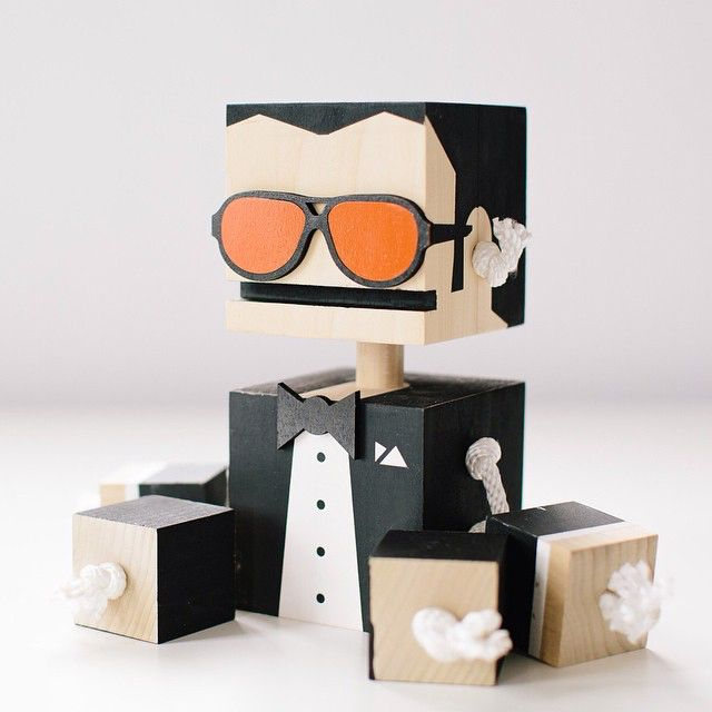 Block Bot | Woodworking- Toys and Games | Pinterest