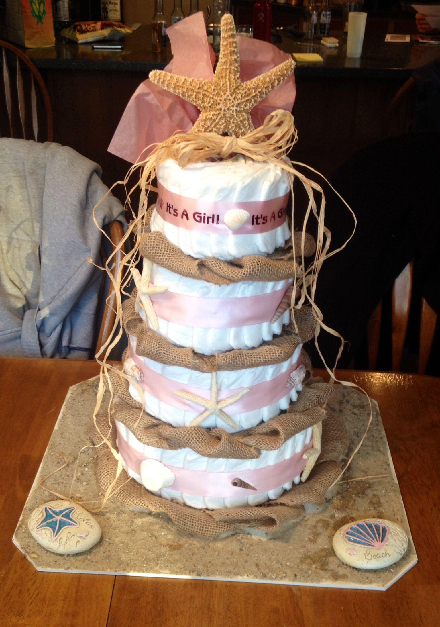 Beach Themed Diaper Cake Crafts Pinterest