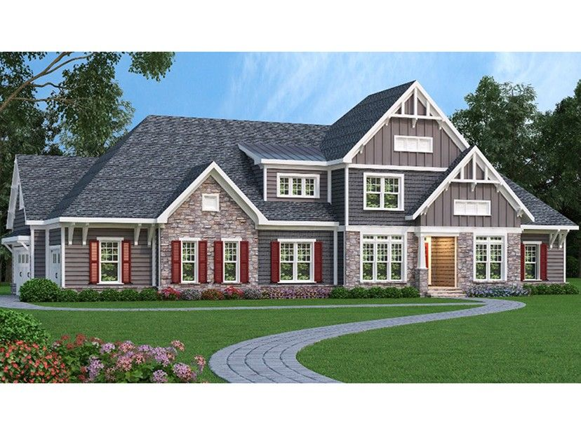 New American House Plan With 4242 Square Feet And 4 Bedrooms From Dream Home Source