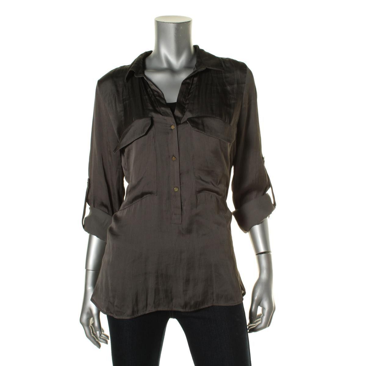 Zara Womens Adjustable Sleeves Casual Pullover Top