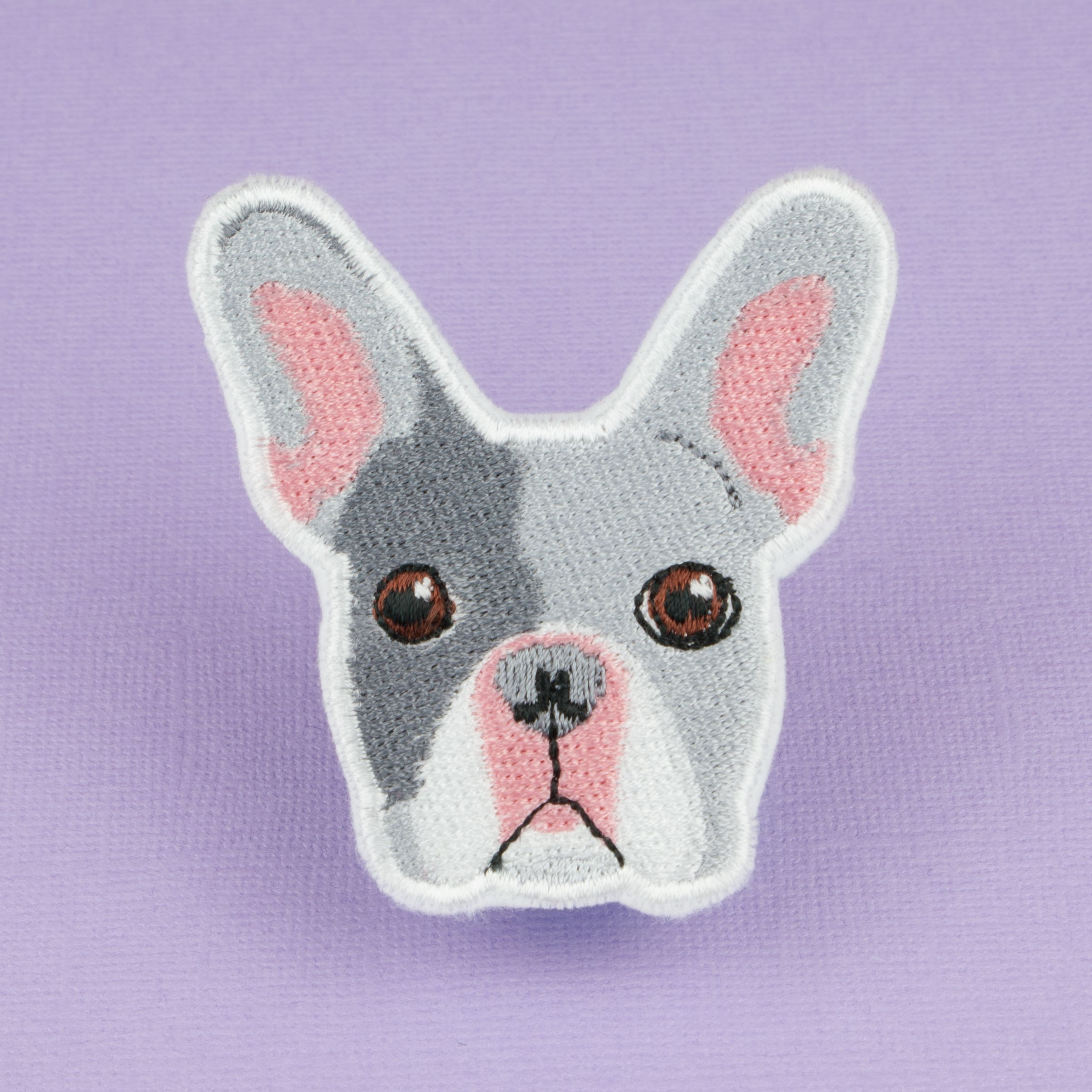 Boston Terrier Dog Embroidered Patch Applique Iron Sew On Patch Embroidery Punk
