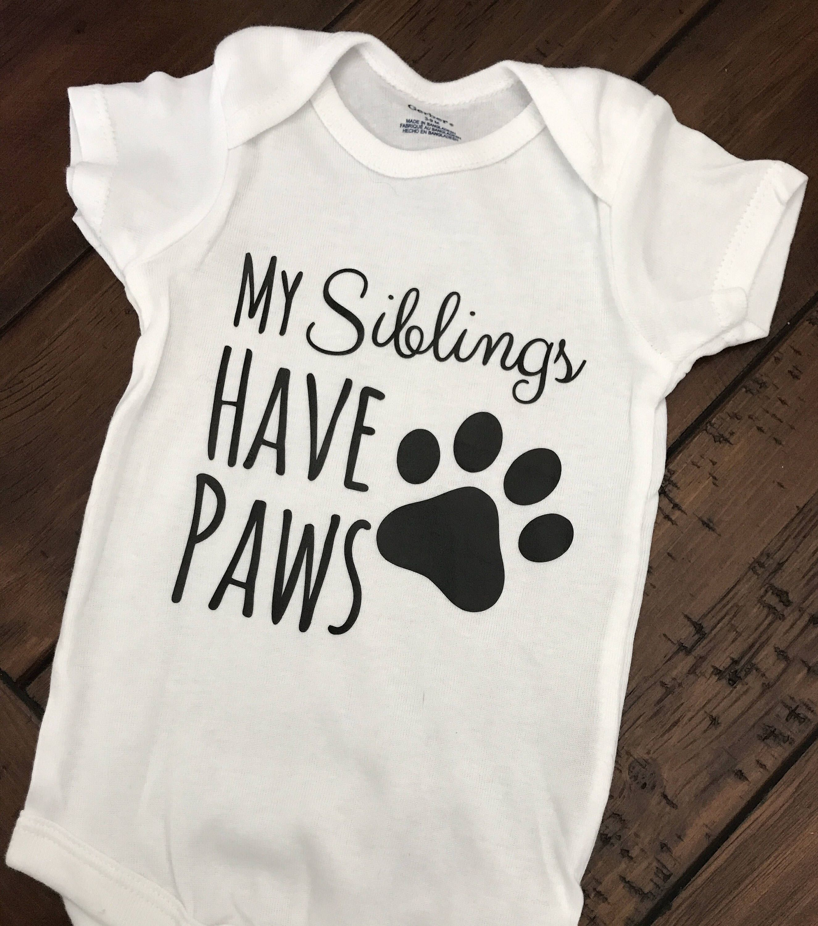 My Siblings Have Paws Youth Boy Long Sleeve Tee Cotton