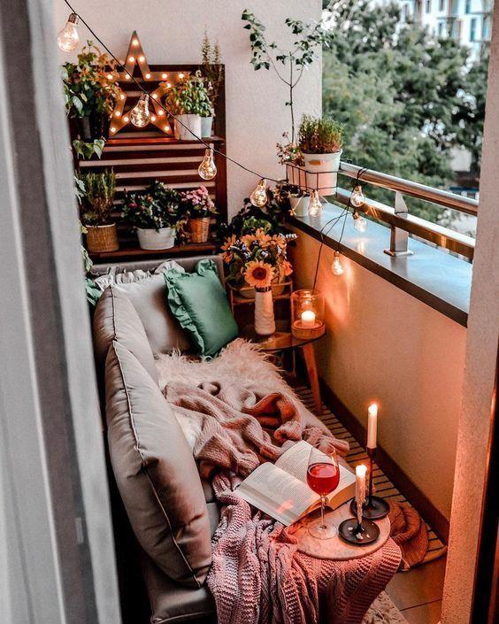 Idées de décoration de balcon paisible