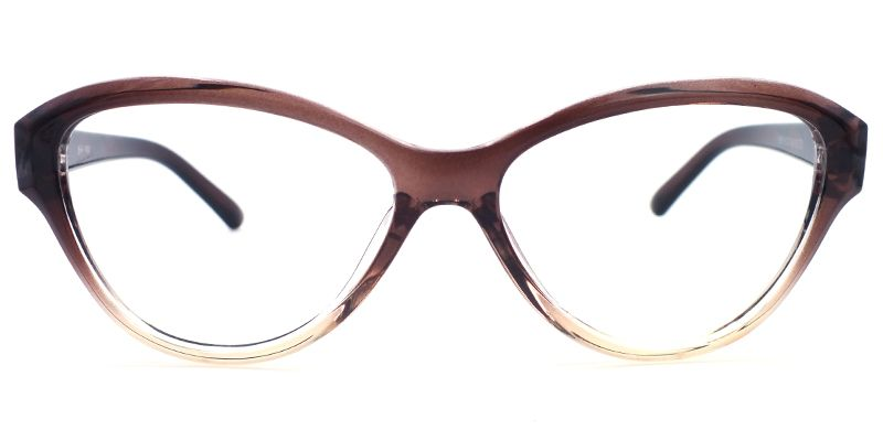 28f10c10151b Eyeglasses Barbara Windsor Cat Eye Glasses Brown Frame 0014-02 ...