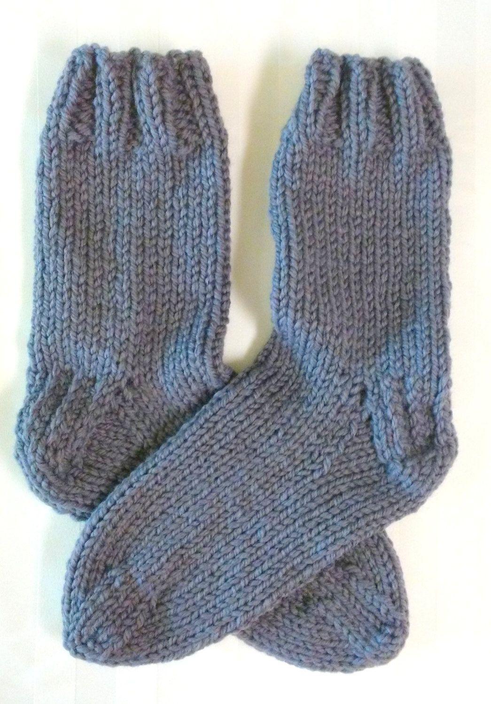Men's Bed Socks. Knit Socks. Steel Gray. Dark Gray. Knit