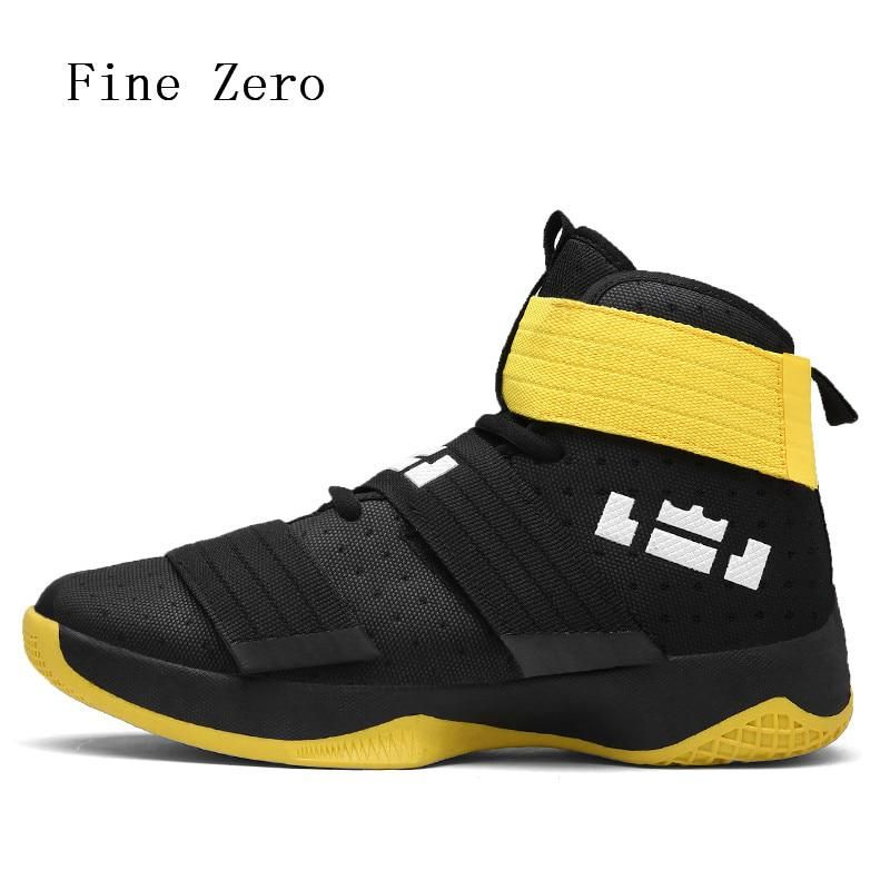 d93e9170826 Fine Zero Men s Basketball Shoes Air Damping Men Sports Sneakers High Top  Breathable Trainers Leather Men Outdoor high tops. Yesterday s price  US   24.30 ...