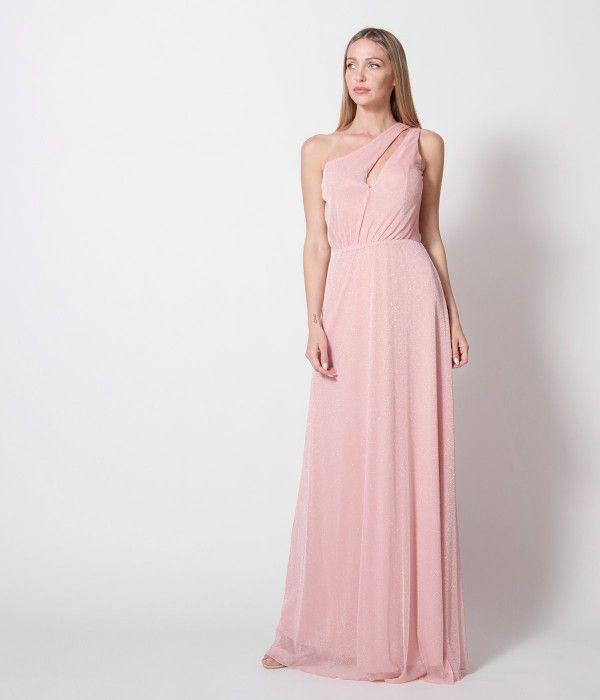 69b993d855b Maxi Φόρεμα με Έναν ώμο Lurex - Make up | Spring 2019 | Bridesmaid ...