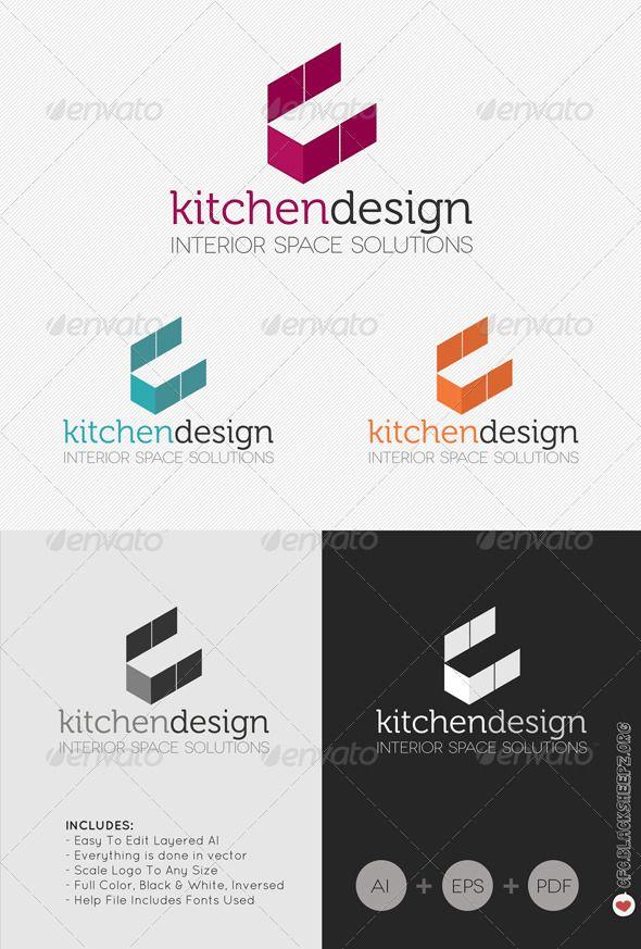 Font Logo Kitchen Design Interior Simple