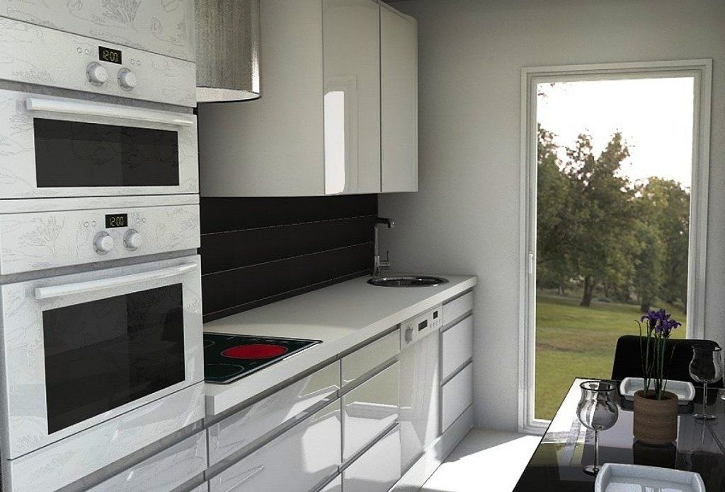 Dise o de cocinas alargadas y estrechas b squeda de - Cocinas estrechas ...