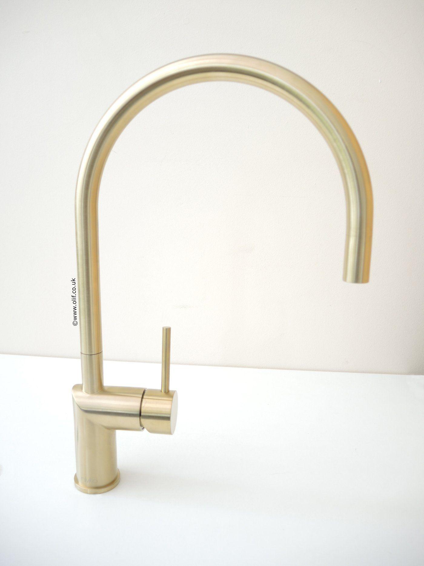 Nivito RH 140 Brushed Brass/Gold, kitchen mixer tap   Mixer taps ...
