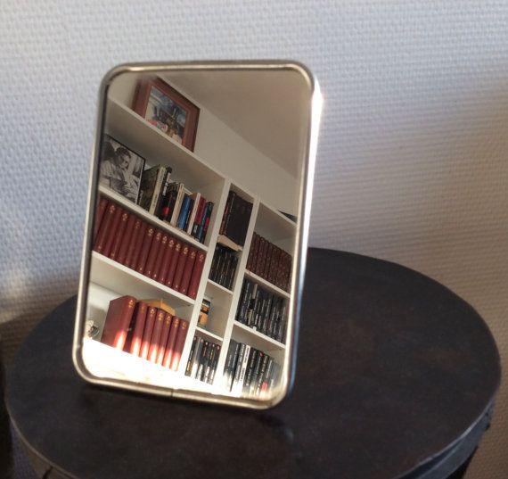 Miroir de barbier sur pied années 50 par FrenchObjetsDavant sur Etsy