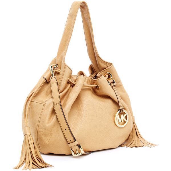 86e03bc2bcd2 ... uk michael michael kors marina leather large drawstring shoulder  totecusp 3 2178e ba996