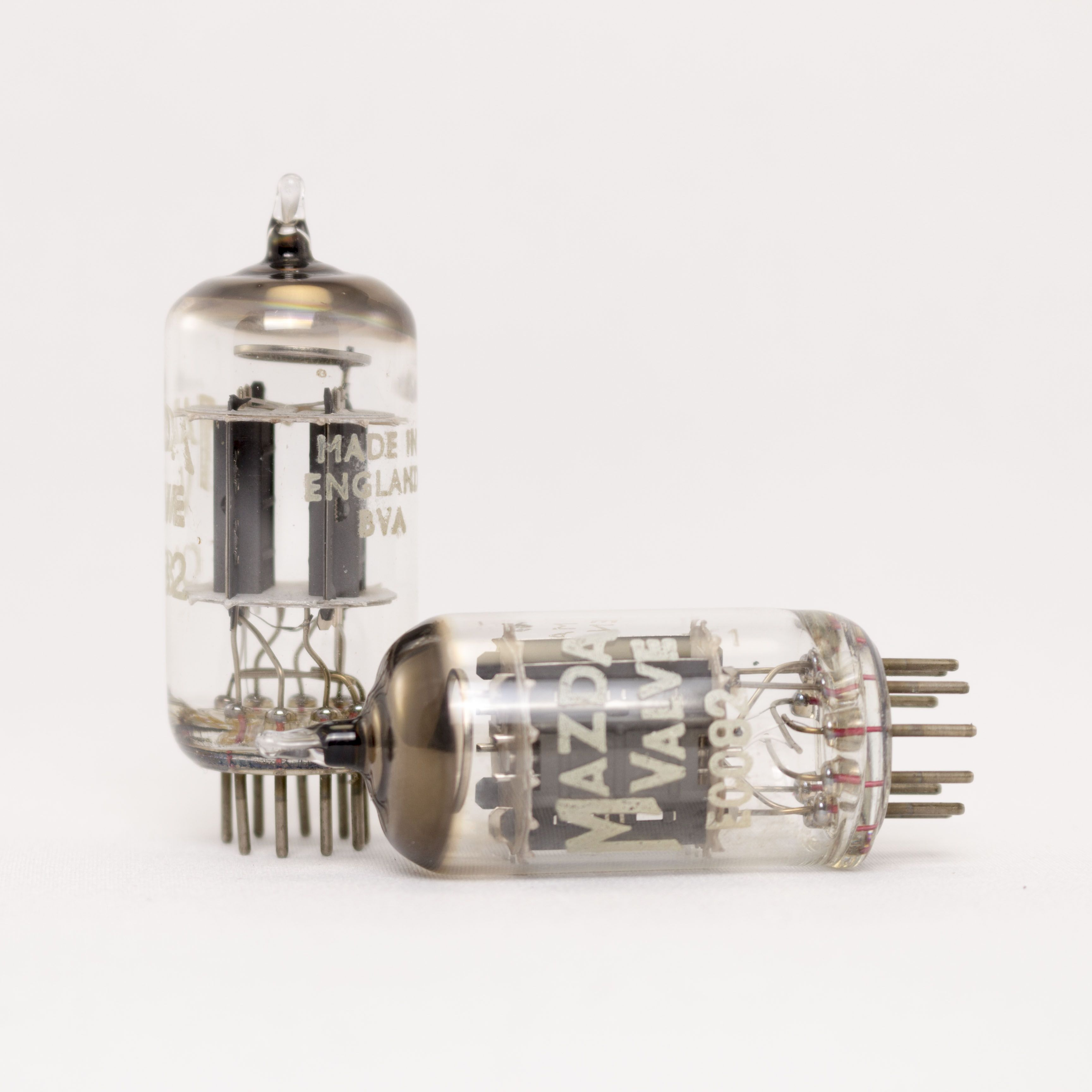 Matched Pair Mazda 12au7 Ecc82 Uk Vacuum Tubes 15mm Ribbed Plates Like Mullard Brimardetails Vacuum Tube Tube Vacuums