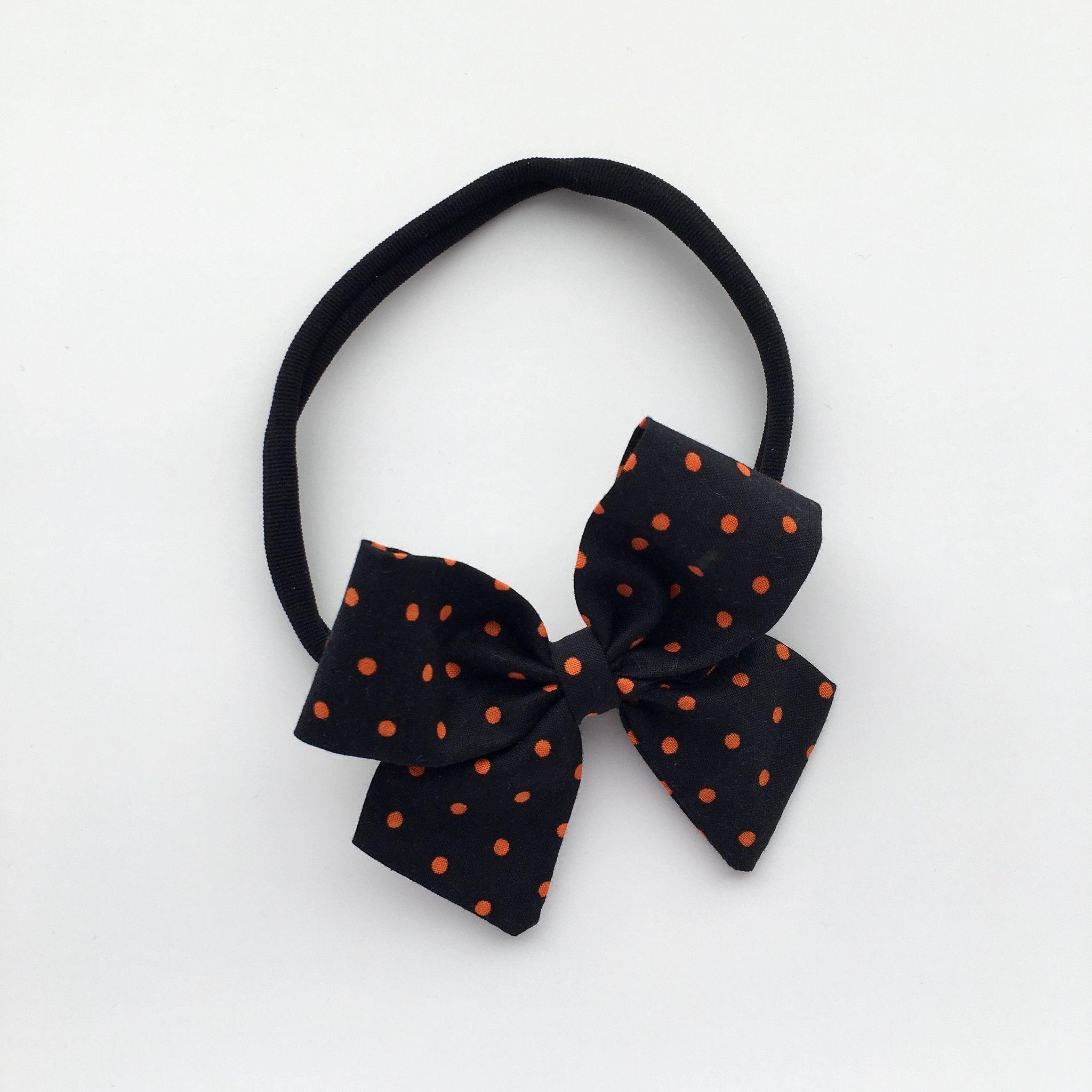 "Orange Mini Dots ""Ellie"" Bow"