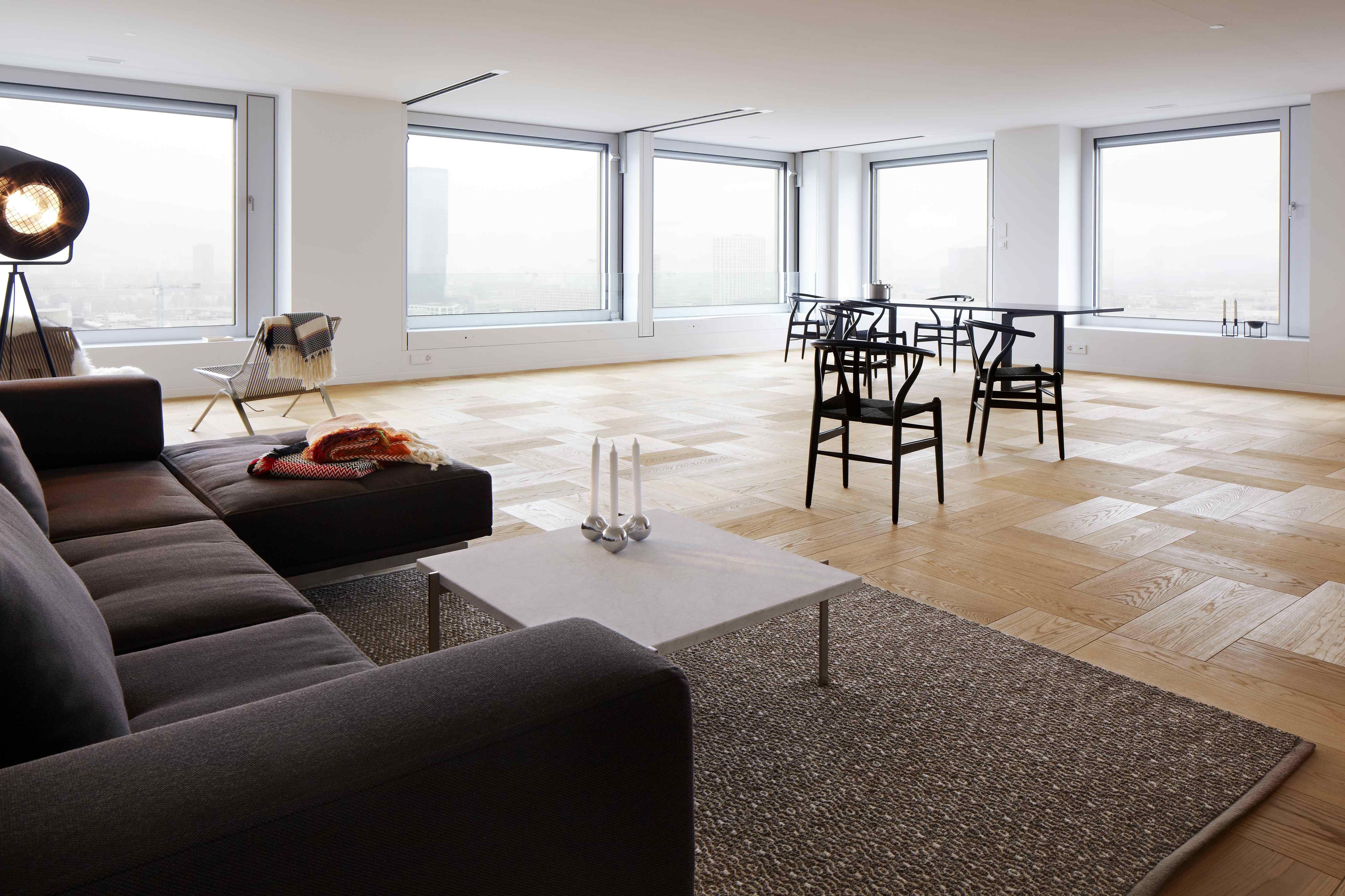 Delphi sofa by Hannes Wettstein from Erik Jørgensen, PK61 table by ...