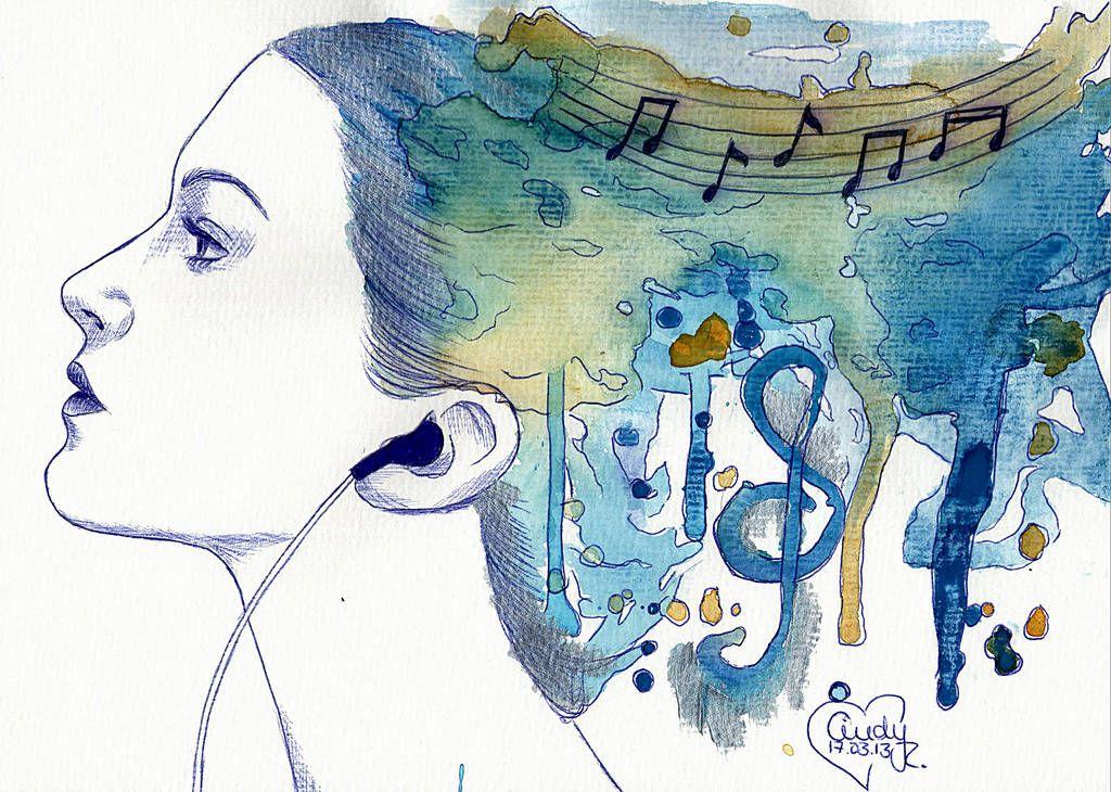 Watercolour Music By Https Www Deviantart Com Cindy R On