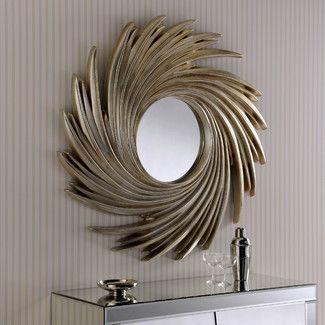 Barajas Accent Mirror Sunburst Mirror Contemporary Wall Mirrors Mirror