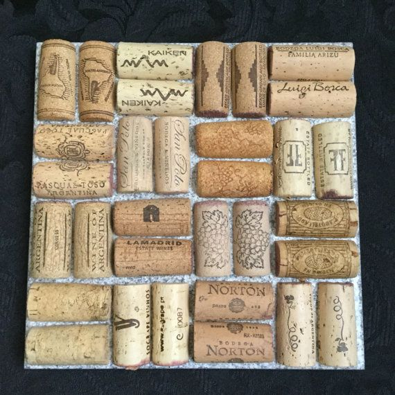 Cork Trivet by sabinesuglyducklings on Etsy