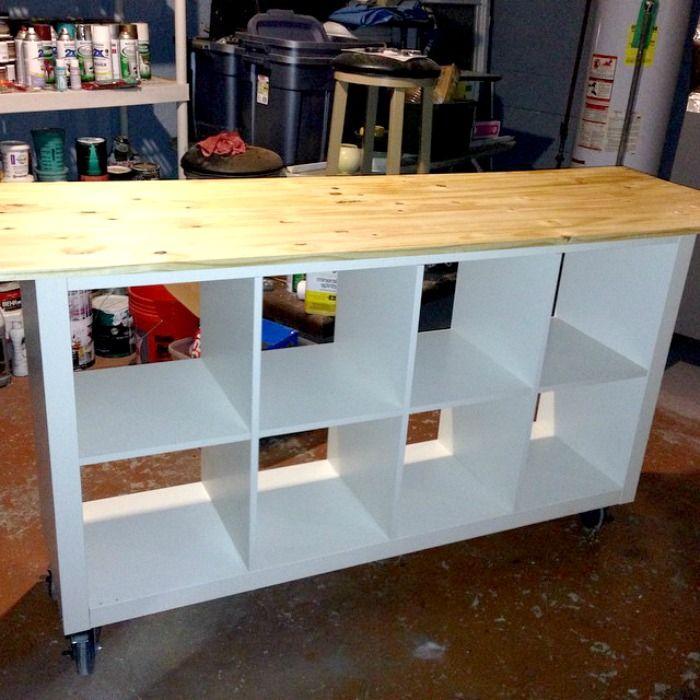 Ikea Hack   DIY Work Table Using Ikea Expedit Bookcase