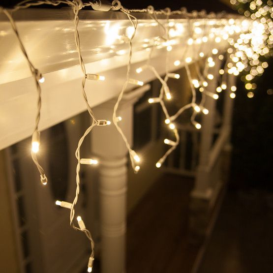 70 LED Icicle Christmas Lights Indoor Outdoor String Wedding Party Connectable