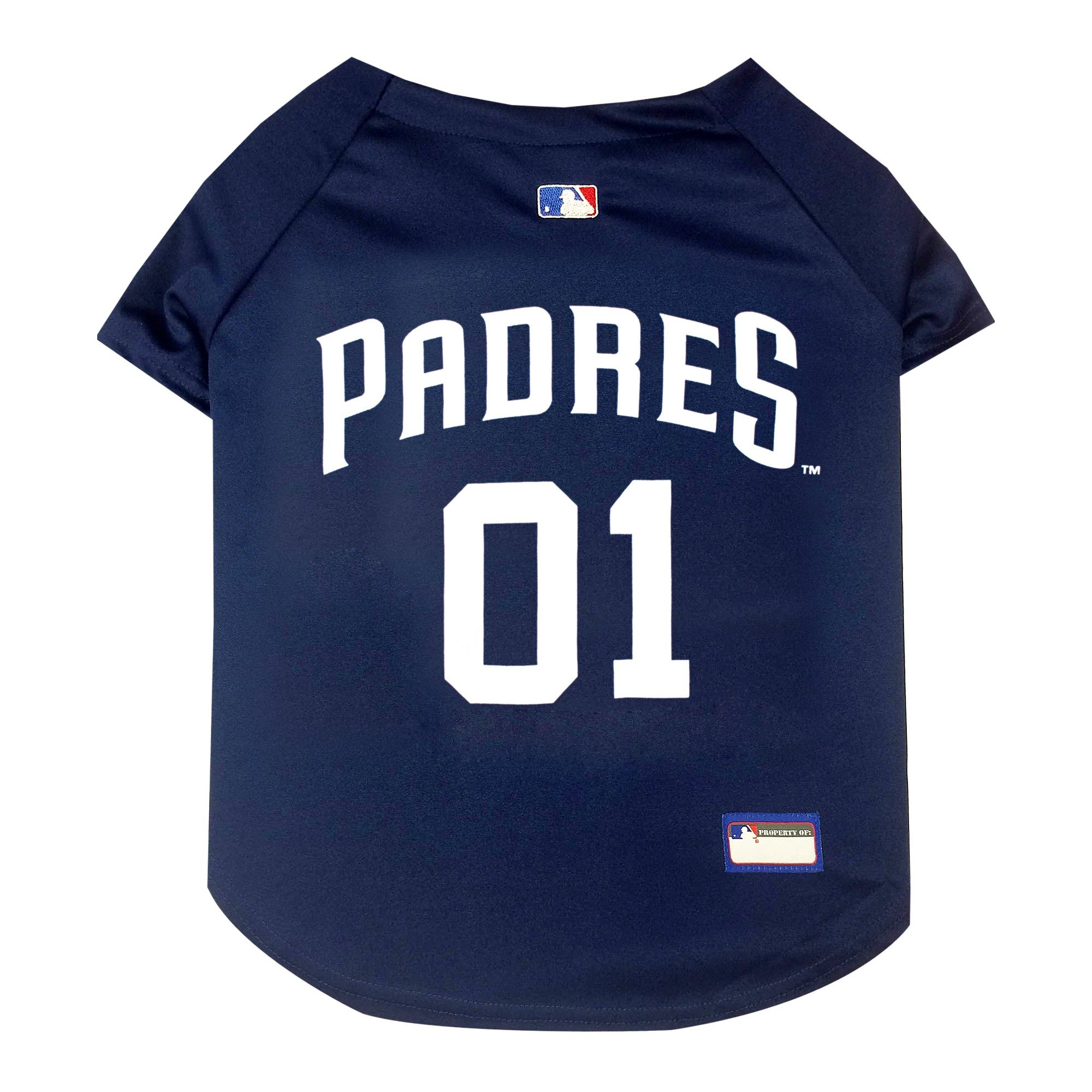 64788e0be San Diego Padres Pets First Pet Baseball Jersey - Navy Xxl, Multicolored