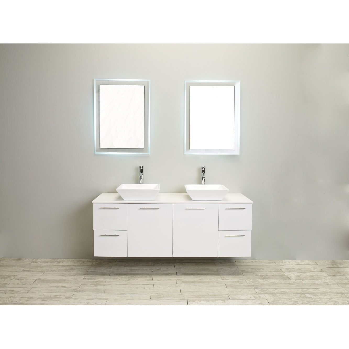 Eviva Luxury 60 Inch White Bathroom Vanity Cabinet Size Double Vanities