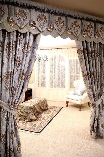 Bleu Fleur De Lis Roman Style Valances Curtain Drapes 17 Curtains