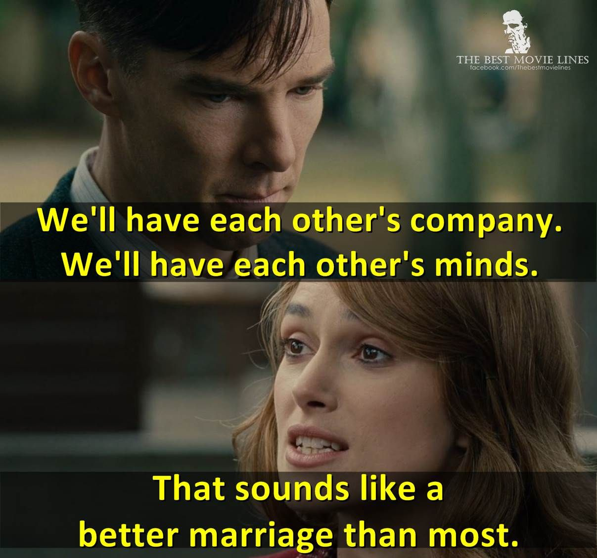 The Imitation Game 2014 Benedict Cumberbatch Keira Knightley Best Movie Lines The Imitation Game Movie Lines
