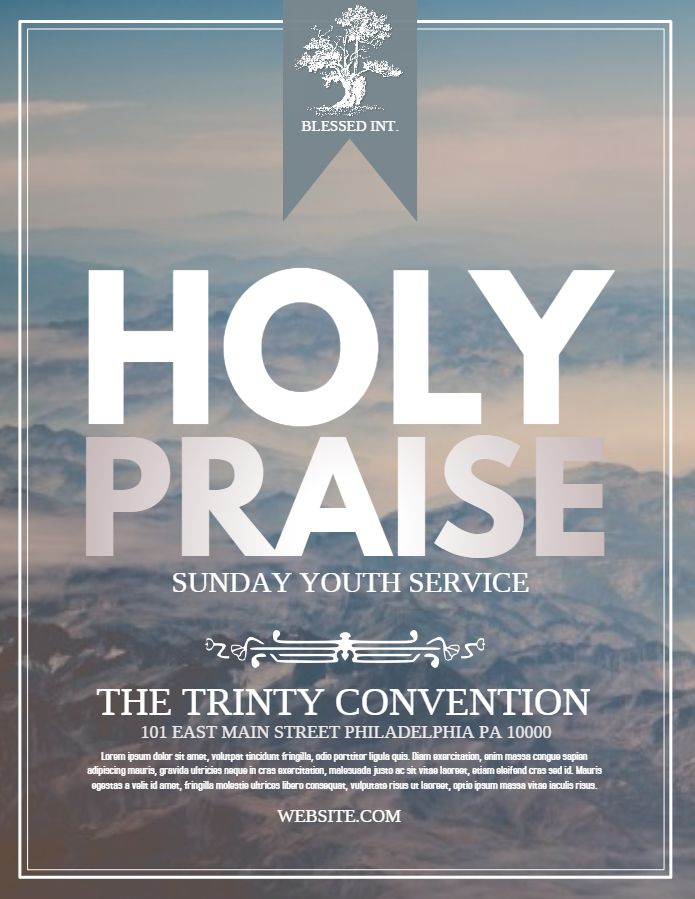 Praise And Worship Church Event Flyer Template Ideias