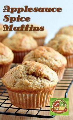 Applesauce Spice Muffins Recipe Breakfast Dessert Muffins Sweet Recipes
