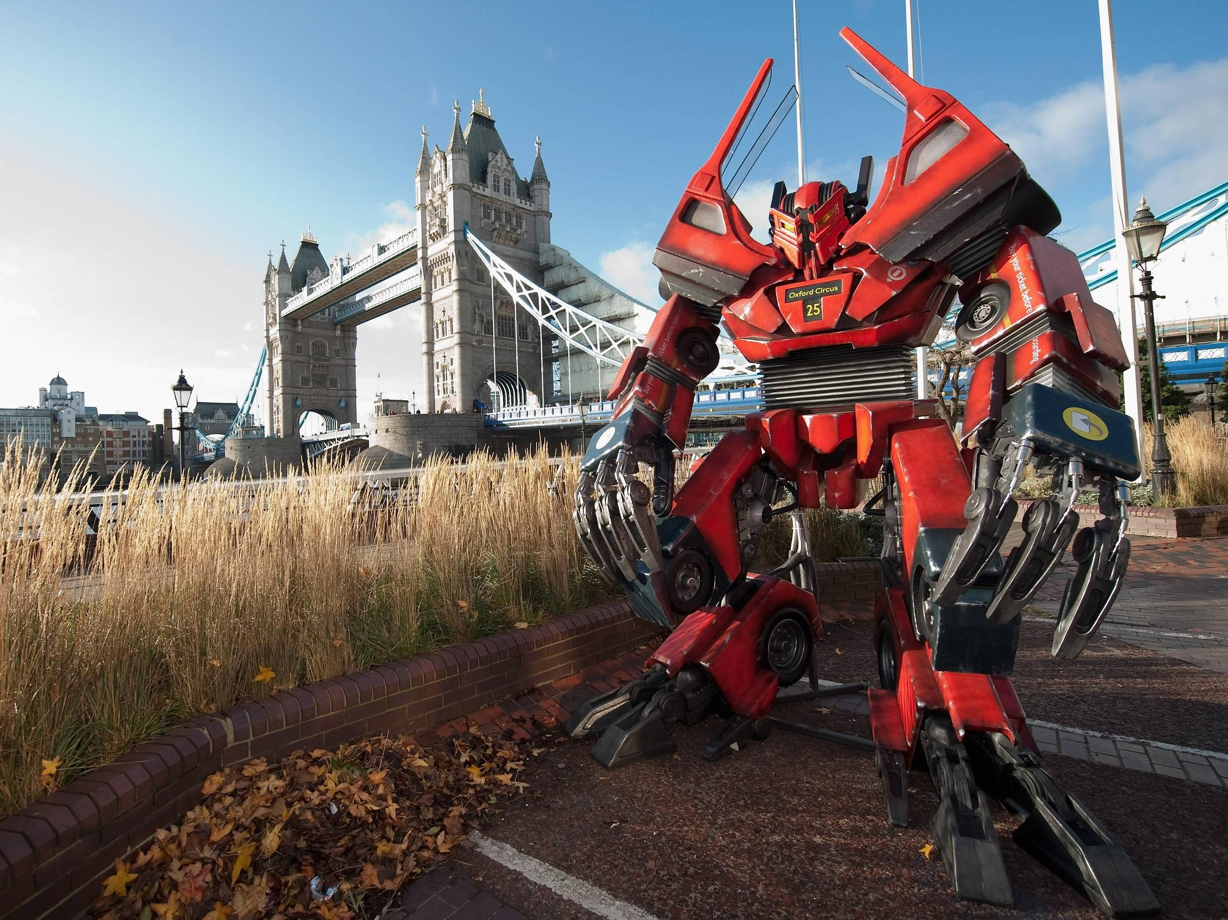 Made From A London Bus With Images Transformer Robots