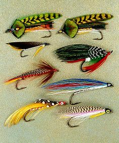 Pack of 3 Green Highlander Salmon Fishing Flies Choice of Sizes Double Hook