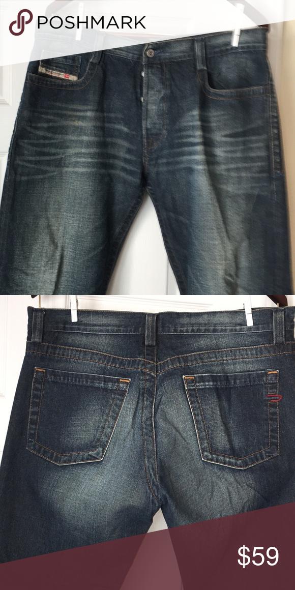 """12ecd758739386 DIESEL Jean 100% Cotton, 31"""" Inseam, Made in Italy Diesel Jeans Straight"""