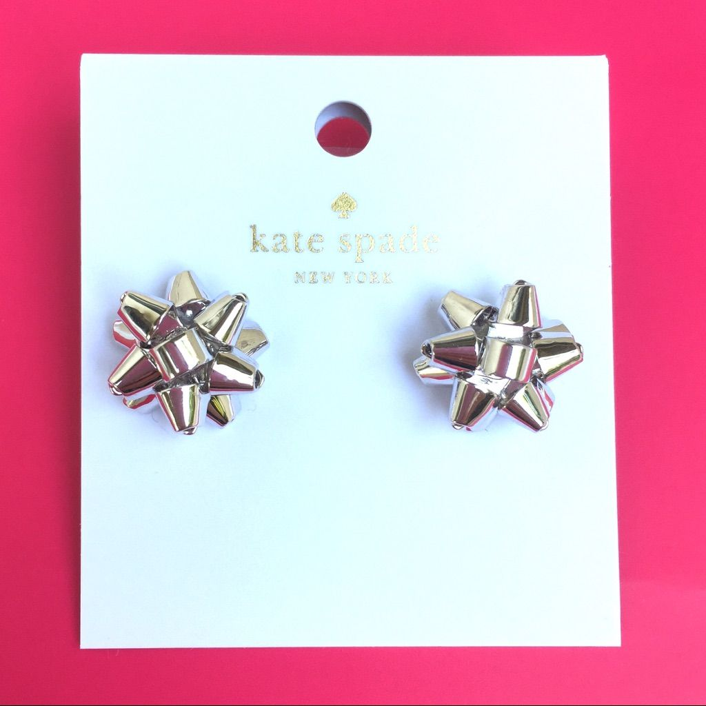 Silverkate Spade Bourgeois Bow Earrings   Bow earrings and Products