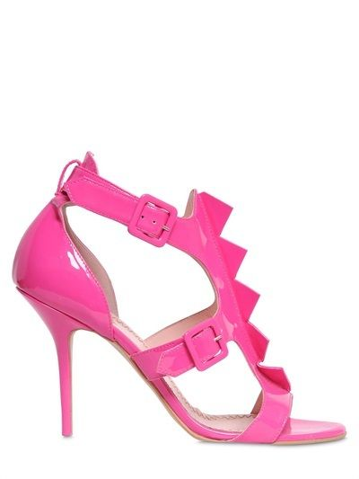 Moschino Cheap & Chic 100mm Patent Leather Sandals on