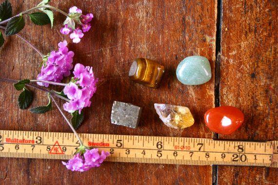 Abundance Crystal Kit Citrine Pyrite Carnelian Green by BijaMalas
