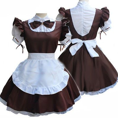 New Women Anime Cosplay Lolita Waitress Party Uniform Costume Maid Dress 5768792d7663
