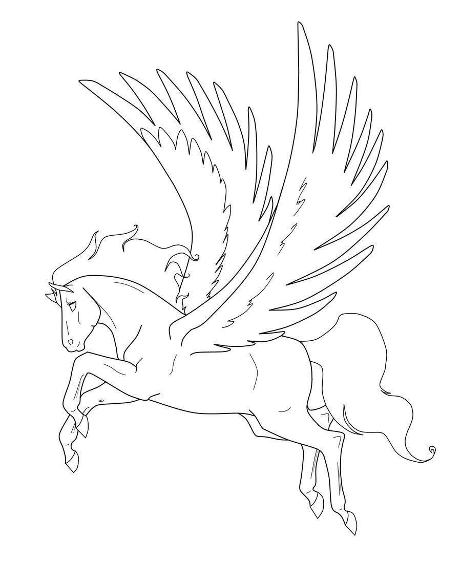 Картинки для срисовки лошади пегасы